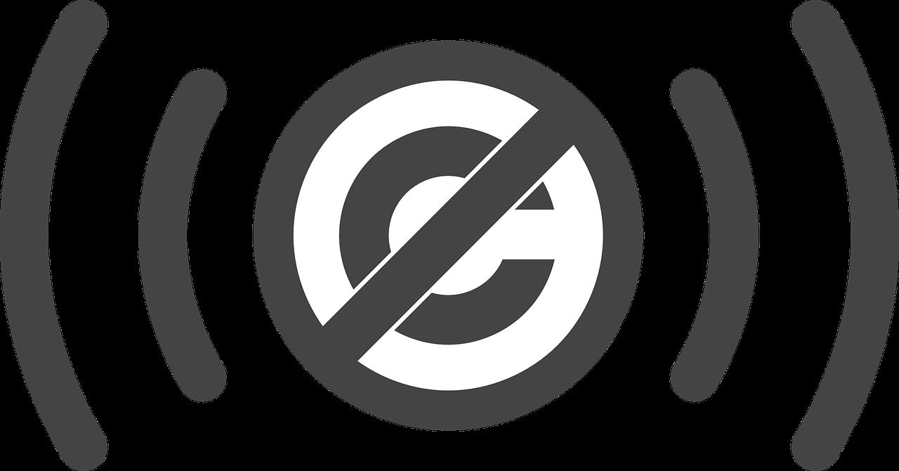 """Prawa autorskie. Fotografia przedstawia symbol oznaczający """"wolne od praw autorskich"""""""