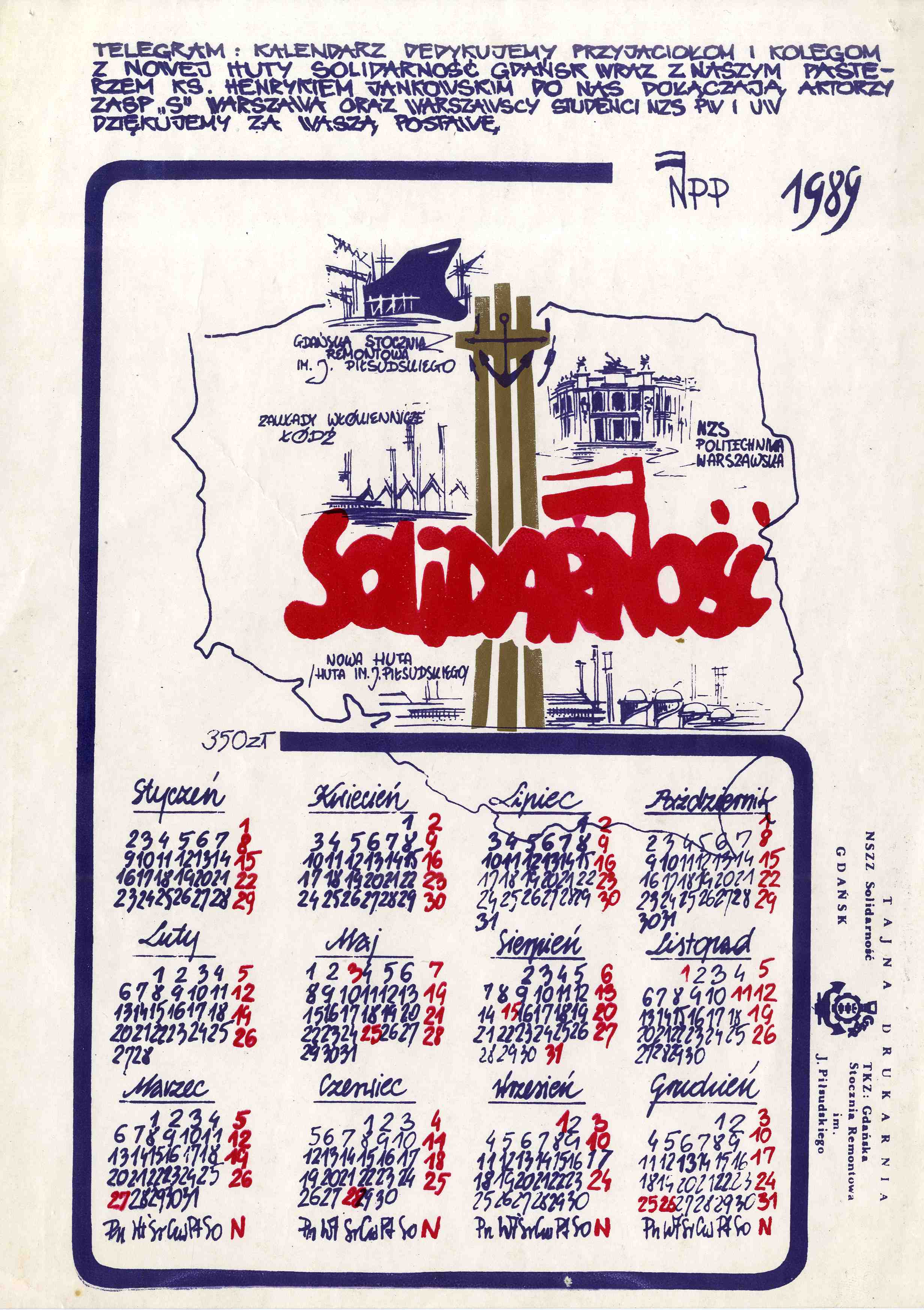 Calendar with Solidarity logo