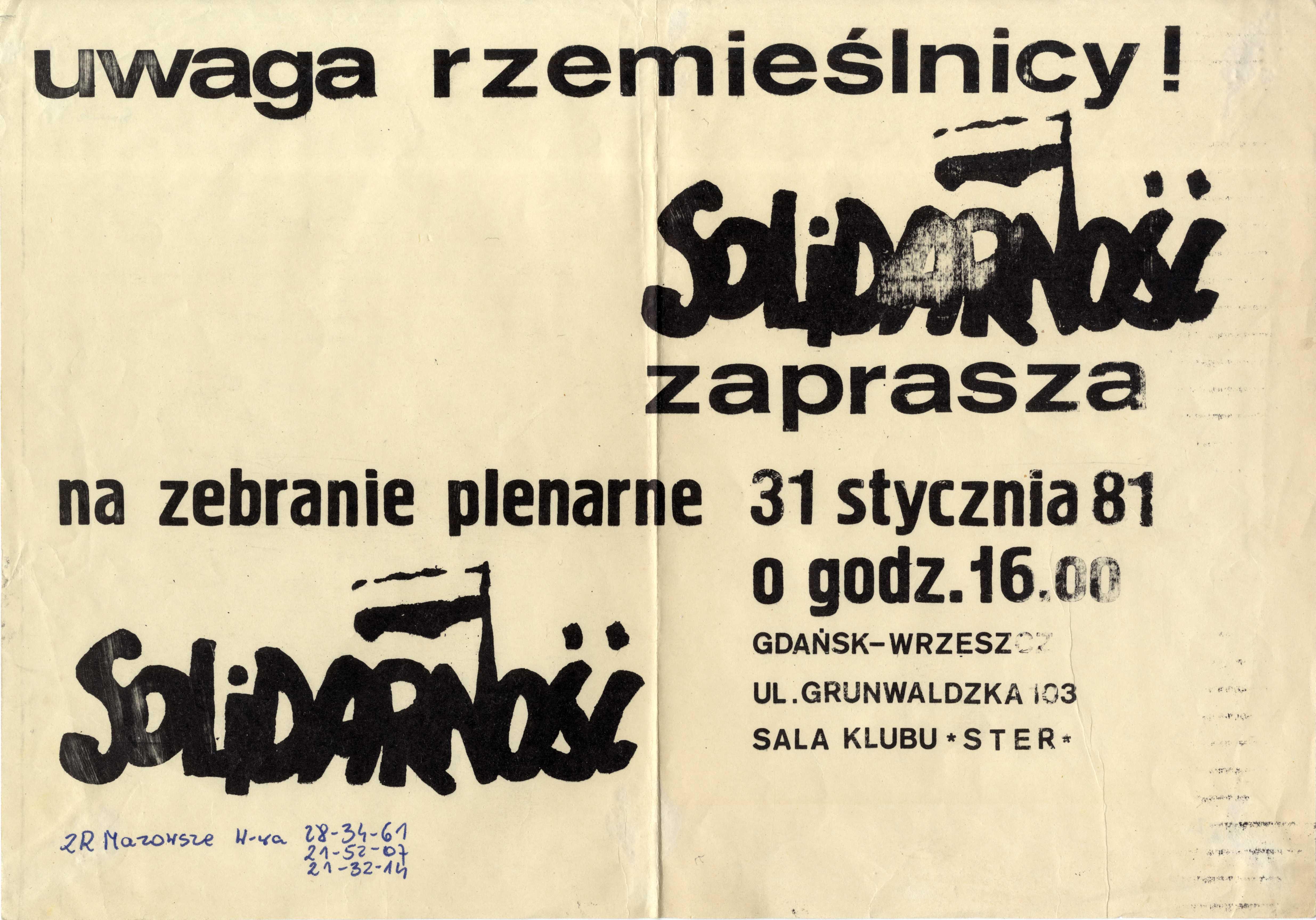 plakaty solidarności rzemieślniczej