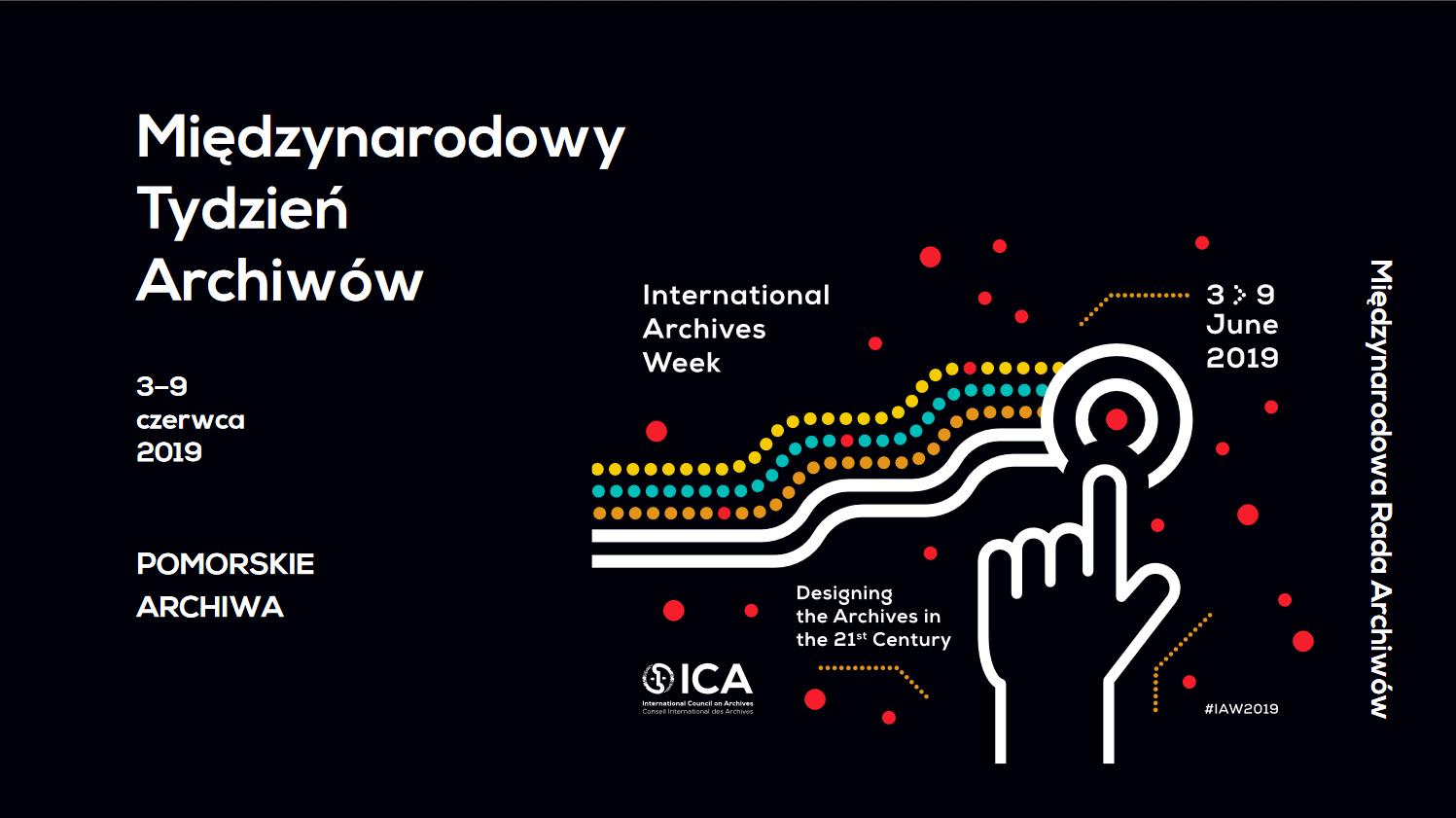 plakat Miedzynarodowy Tydzien Archiwow 2019