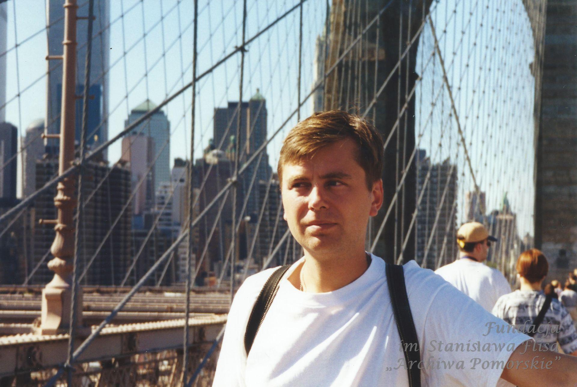 1999 r. Na Moście Brooklyńskim, NYC