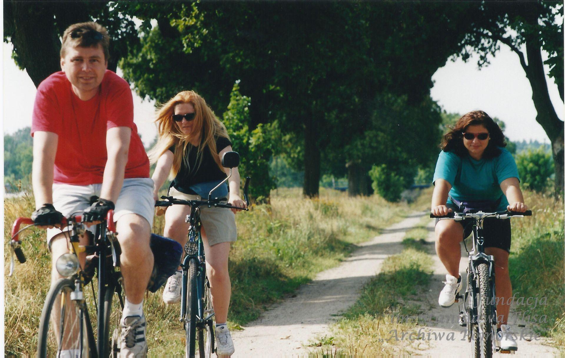 2001 r. Wycieczka rowerowa na obrzeżach Gdańska