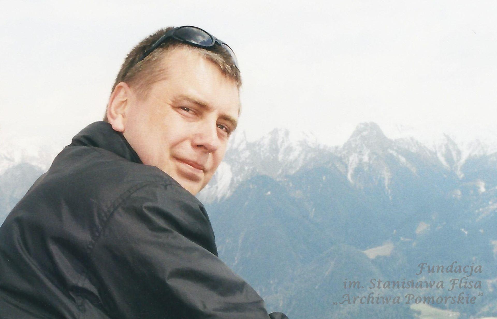 2003 r. Przystanek podczas wędrówki w Alpach austriackich.