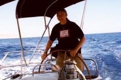 2011 r. Za sterem na wodach morza Egejskiego.